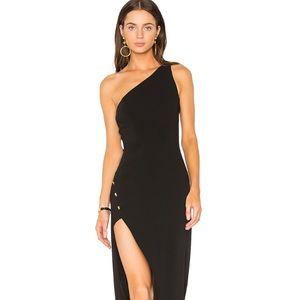 NBD Black Dress with slit size XS